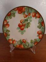"""Antique Imperial Austria PSL Empire Plate Hand Painted Orange Apricots 8 3/4"""""""