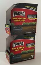 Amdro Mole & Gopher Tunnel Trap No Touch Disposal Lot Of 2