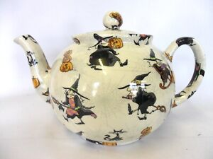 Hubble Bubble Witches 6 cup teapot by Heron Cross Pottery