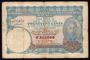 Malaya 25 Cents 1940  P-3