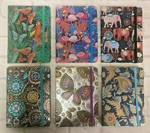 Jazzy Journals Note Book 6 designs Flamingos Elephant Butterfly BN