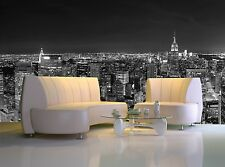 Skyline Manhattan at Nigh Wall Mural Photo Wallpaper GIANT WALL DECOR Free Paste