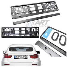 Portamatrículas compatible con Bmw X5 X6 negro brillo con fijación a presión