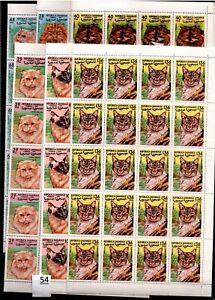 / 40X SAHARA 1999 - MNH - CATS - ANIMALS - SHEETS BENT - MINOR DEFECTS