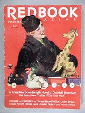 "Redbook Magazine - December, 1933 ~~~ Dashiell Hammett ""The Thin Man"" 1st pub'd"
