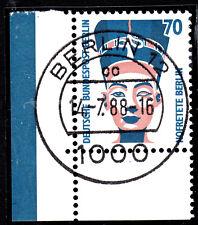 51) Berlin SWK 814 70 Pf Eckrand 3 Bogen EUL mit EST Berlin 12 m Gummi ohne Naht