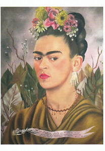 Postkarte: Frida Kahlo - Selbstbildnis, Dr. Eloesser gewidmet