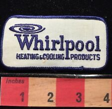 Vtg WHIRLPOOL Advertising Patch ~ Heating & Cooling Products 65E6
