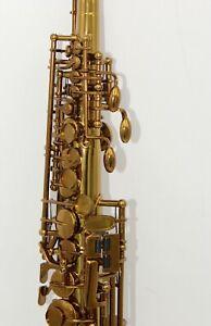Eastern Music cognac Mark VI straight soprano saxophone sax soprano with case