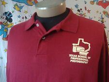 Vintage Texas School Of Professional Photography camera film logo Polo Shirt XL