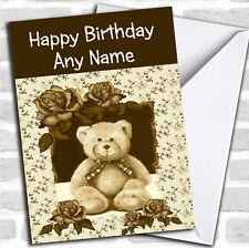 Vintage Teddy Bear Birthday Customised Card