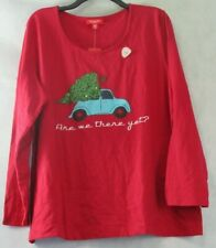 Family Pajamas Women's Pajama Top, Red Christmas Vacation, Medium M