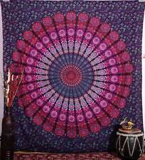 Pink Purple Ombre Tapestry Wall Hanging Indian Bedspread Boho Beach Throw Sheet