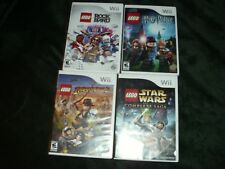 🔥 Lego Nintendo Wii Games Star Wars Harry Potter Indiana Rock Band 4 Game Lot🔥