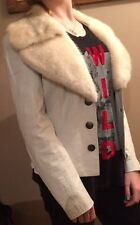 Authentic leather jacket with authentic mink fur collar - Great condition!!