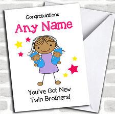 Asiatico sorella maggiore New Baby Twin Brothers Ragazzi pari livello carta personalizzati