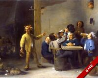 PEASANTS CELEBRATING 12TH NIGHT SHAKESPEARE PAINTING ART REAL CANVAS PRINT