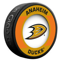 Anaheim Ducks NHL Team Logo Retro Souvenir Hockey Puck