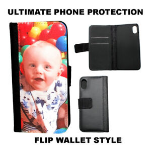 Personalised Flip Photo Phone Case Samsung Galaxy and iPhone Wallet Style