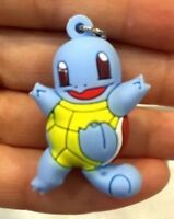 """Pokamon Squirtle Rubber Keychain 2"""" Double Sided US Seller"""
