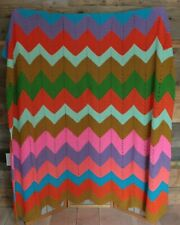 "Handmade Crocheted Afghan Throw CHEVRON Zig Zag Afgan Blanket  |   70"" x 90"""