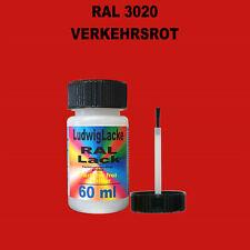 RAL 3020 Verkehrsrot Lackstift 60ml glänzend schnelltrocknend