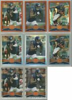 Chicago Bears 8 card 2012 Topps Chrome REFRACTORS & XFRACTORS lot-all different