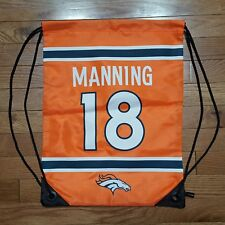 "Peyton Manning Denver Broncos Jersey Team Logo Drawstring Backpack NFL 19"" x 14"""
