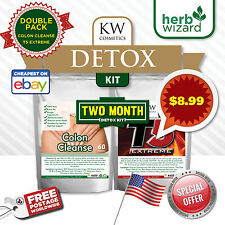 60 T5 Fat Burners & 60 COLON CLEANSE DETOX SLIMMING DIET PILLS SUPER STRONG