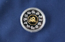 2000 Canada Chinese Calendar Lunar Year of the Dragon Silver $15. Proof M1223