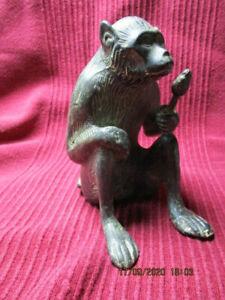 Affe Monkey , Affenkönig Bronze, sehr rar Skulptur