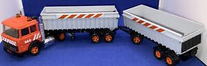 Matchbox Super Kings K145 Iveco Double Tipper Trailer Truck 1987 Nr Mint Unboxed