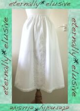 Vintage DAVID NIEPER Cotton & Lace A-Line Petticoat Under-Skirt Half Slip Size M