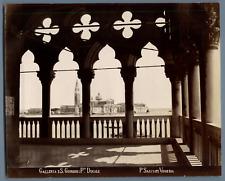 Salviati. Italie, Venezia, Galleria e S. Giorgio, Palazzo Ducale  Vintage albume
