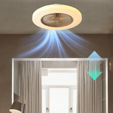 """58cm 23"""" Invisible Dimmable Ceiling Fan Light Remote Control Chandelier Bedroom"""