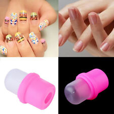 1Pcs Wearable Nail Art Reusable Soaker Acrylic Tips Polish Remover Gel Cap JL