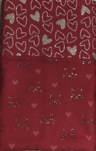 NEW Flannel Pillow Case Glittery Cats And Hearts Hot Pink Free Shipping