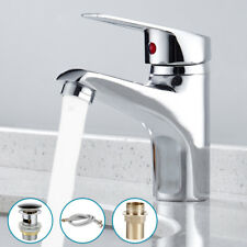 Bathroom Basin Sink Mono Mixer Tap Chrome Single Lever Taps Faucet And Free Hose