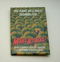WB Mars Attacks Martian Nice Planet Movie Promo Button Pin New NOS 1996