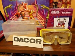 Vintage Dacor yellow scuba goggles swimming mask