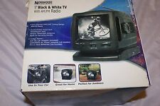 "5"" Black and White TV with AM/FM Radio (Can be used as monitor Audio/Visual Jack"