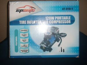 epauto 120 watt 12 volt air compressor ,digital , new in box.