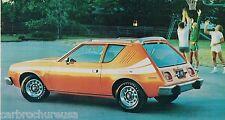 1977 AMC GREMLIN / PACER / HORNET / MATADOR Brochure / Catalog