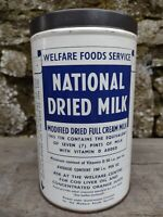 Collectable Vintage c1950's National Dried Milk Tin
