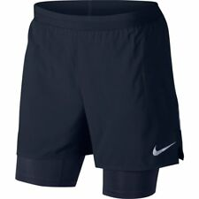 "Nike Flex Stride 2 In 1 Running Shorts 5"" Navy Blue Reflective 904456 Large"