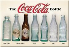THE COCA COLA, COKE BOTTLE HISTORY Retro Vintage Tin Sign Magnet Made in USA