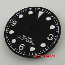 30.4mm black corgeut dial silver marks Watch Dial for 2824 2836 Movement watch54