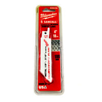 "Milwaukee Sawzall 48-00-5183 4"" Bi-Metal Reciprocating Saw Blade"