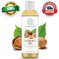 Hazelnut Oil 4oz 100% Pure & Natural Carrier Oil Great For Skin, Hair & Massages