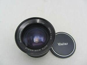 Vivitar 28mm F2.5 Auto Wide Angle Nikon F Mount Lens for SLR/Mirrorless Cameras